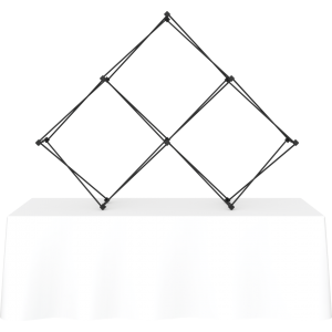 Xclaim 8ft Tabletop 3 Quad Pyramid Fabric Popup Display Frame